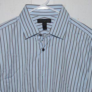 Express studio  button down mens shirt size L J715